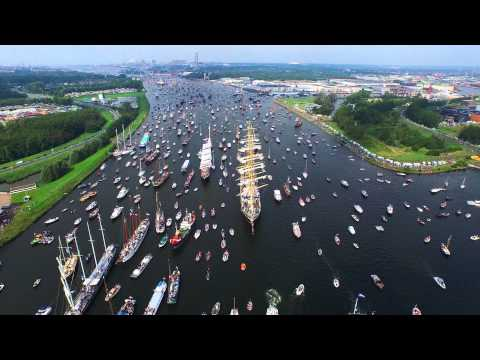 SAIL Amsterdam 2015 Birds Eye View in 4K By Drone