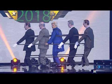 Prezidentės šokis su kandidatais į jos postą
